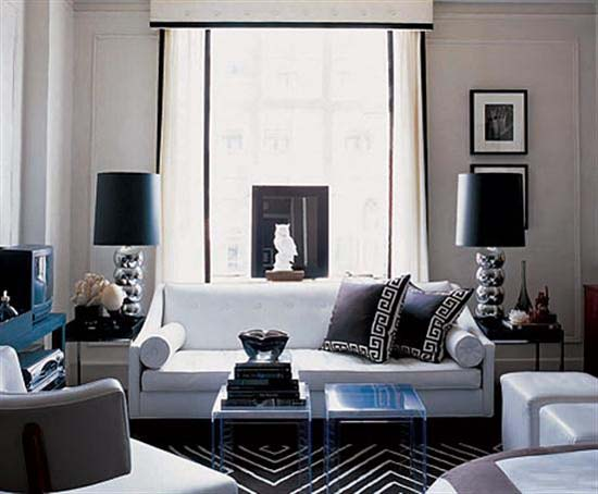 ... Black White Living Room Designs Decorating Trends Part 96